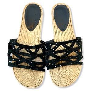 Fergie Minx Espadrille Sandal Slip-on Flat 8.5